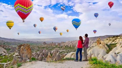 Полет на воздушном шаре в Каппадокии парад воздушных шаров