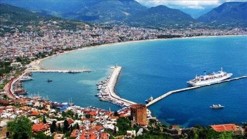 Alanya fortress and Alanya cable car