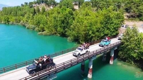Green canyon jeep safari in Turkey