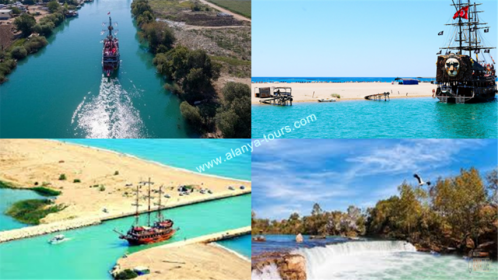 Manavgat waterfall and Manavgat river boat tour