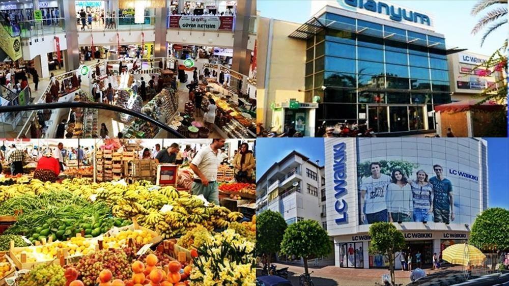 Alanya shopping centers and bazaar