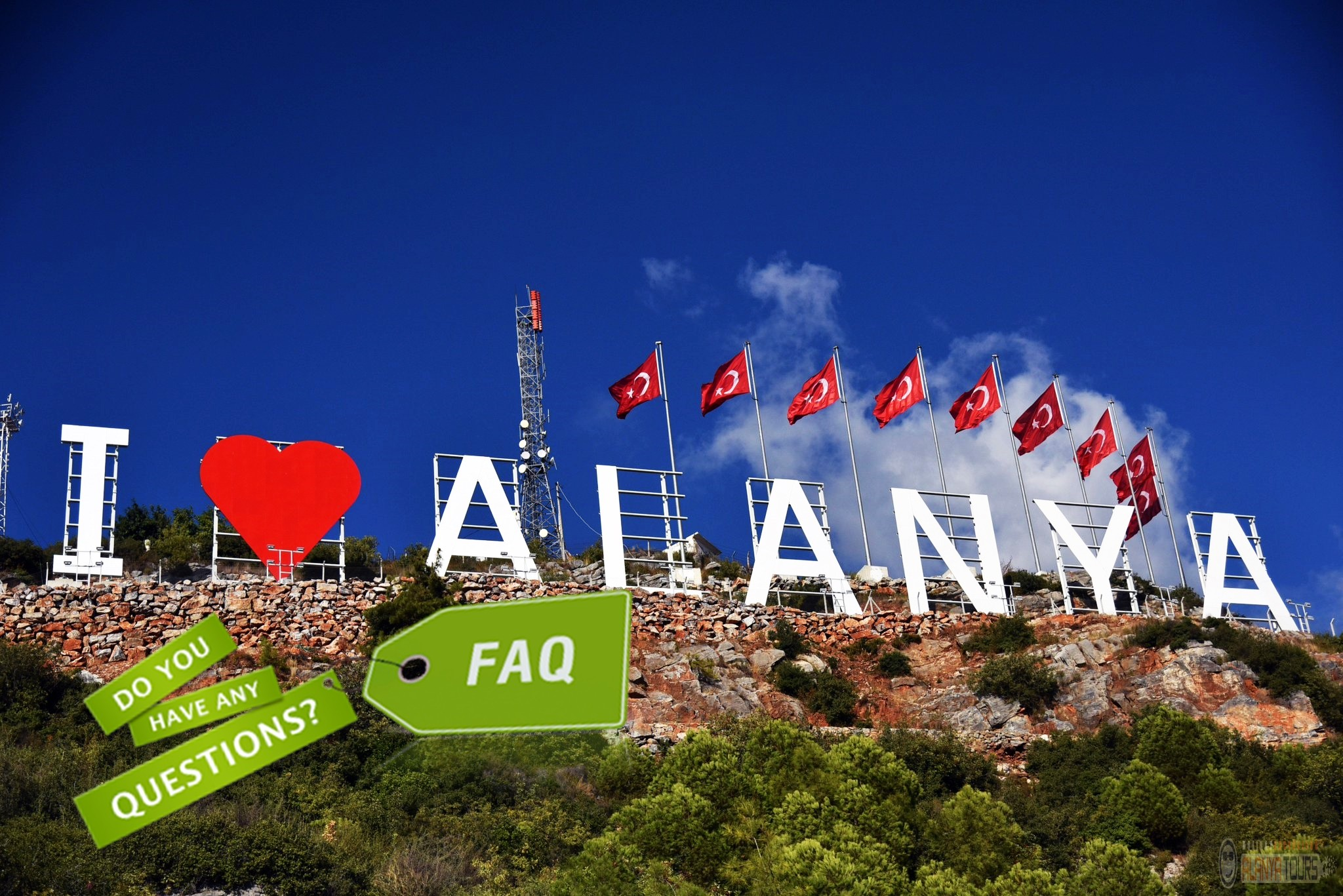 Frequently asked questions while on holiday in Alanya!