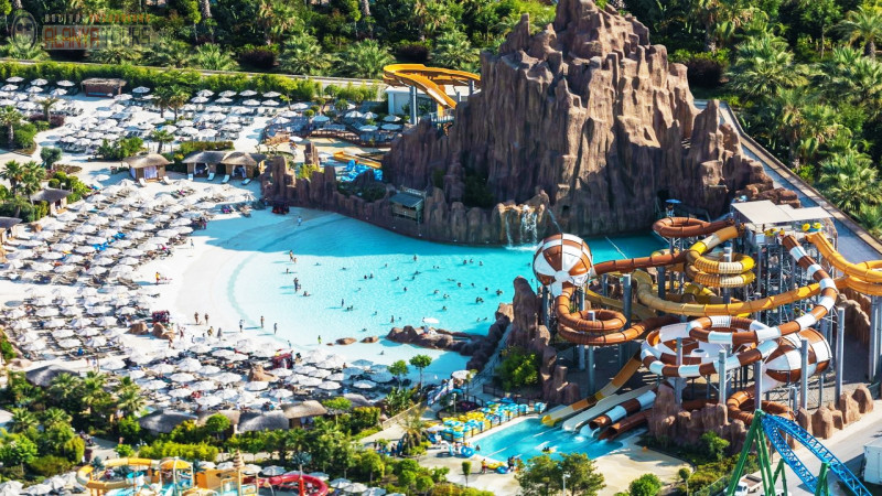 The Land of Legends Theme Park from Alanya