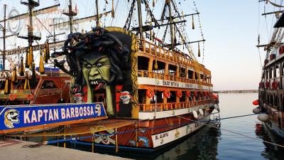 Incekum Pirate boat tour